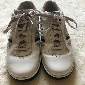 Polo By Ralph Lauren White & Green Sneakers Sz 11